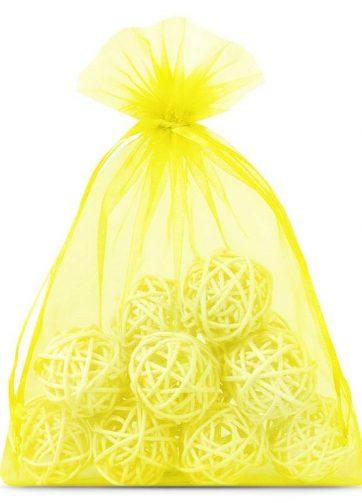 10 szt. Woreczki z organzy 18 x 24 cm - żółte