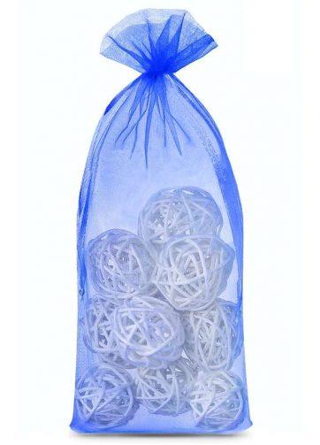 10 szt. Woreczki z organzy 16 x 37 cm - niebieskie
