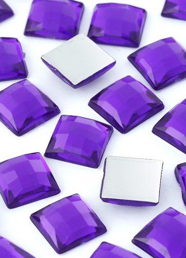 zamówienia hurtowe Dżety kwadratowe 10 x 10 mm (fioletowy) - 1000 szt.
