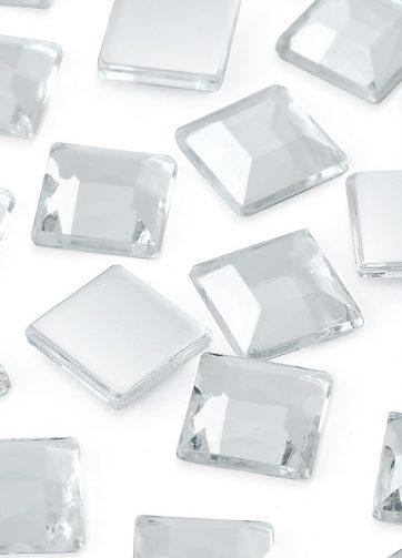 zamówienia hurtowe Dżety kwadratowe 25 x 25 mm (kryształowy) - 100 szt.