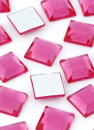 zamówienia hurtowe Dżety kwadratowe 10 x 10 mm (różowy ciemny) - 1000 szt.