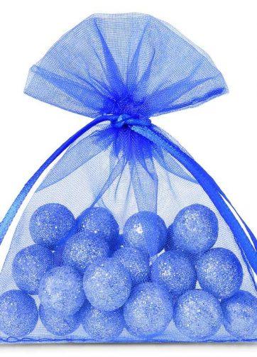 25 szt. Woreczki z organzy 6 x 8 cm - niebieskie