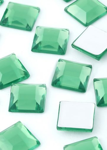 zamówienia hurtowe Dżety kwadratowe 10 x 10 mm (zielony) - 1000 szt.