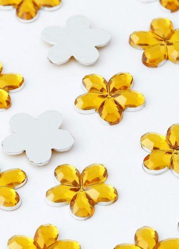 zamówienia hurtowe Dżety kwiatki 10 mm (złoty) - 1000 szt.
