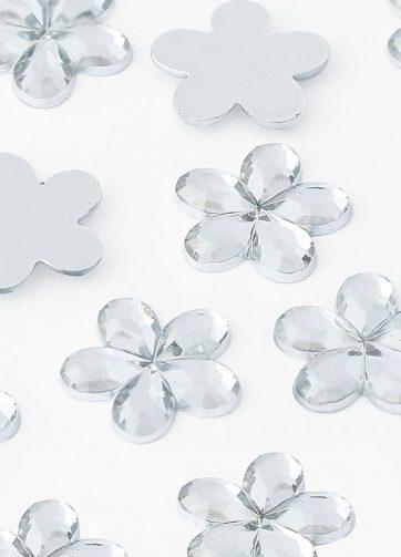 zamówienia hurtowe Dżety kwiatki 10 mm (kryształowy) - 1000 szt.