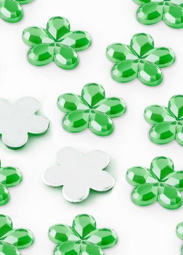 zamówienia hurtowe Dżety kwiatki 10 mm (zielony) - 1000 szt.