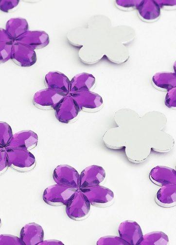zamówienia hurtowe Dżety kwiatki 10 mm (fioletowy ciemny) - 1000 szt.