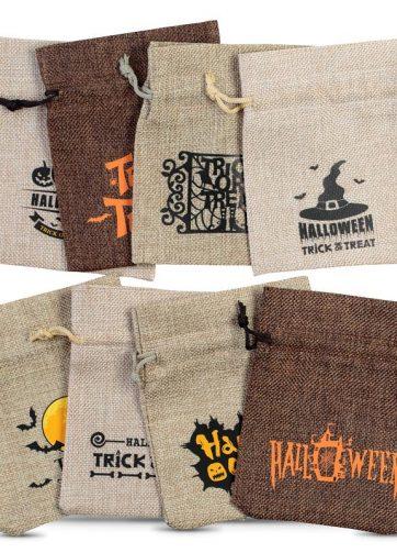 10 szt. Woreczki Halloween 12 x 15 cm - mix wzorów i kolorów
