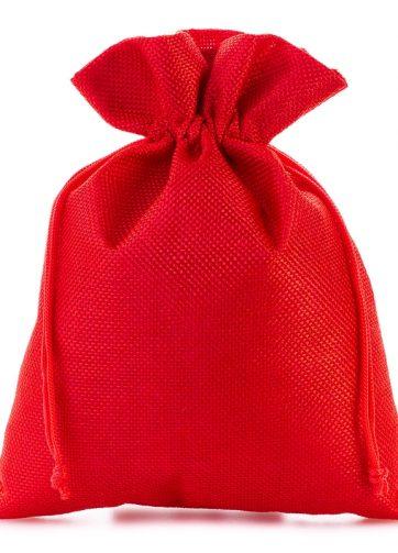 5 szt. Woreczki jutowe 18 x 24 cm - czerwone