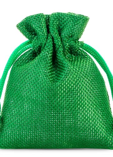 10 szt. Woreczki jutowe 9 x 12 cm - zielone
