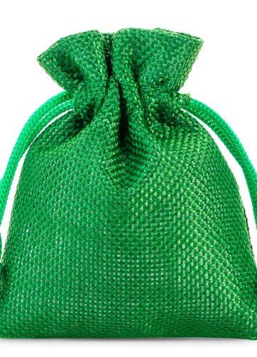 10 szt. Woreczki jutowe 10 x 13 cm - zielone