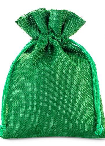 10 szt. Woreczki jutowe 13 x 18 cm - zielone