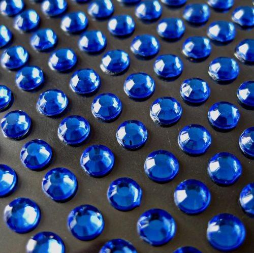 zamówienia hurtowe Cyrkonie okrągłe 3 mm (niebieski) - 176 szt.