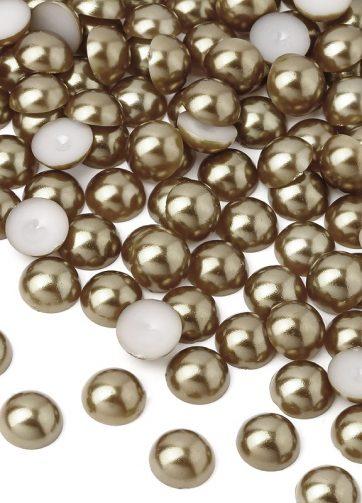 zamówienia hurtowe Półperełki okrągłe 8 mm (brązowy) - 2000 szt.