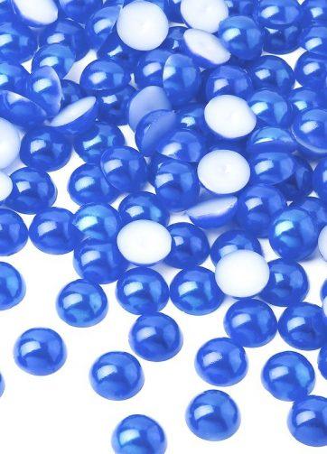 zamówienia hurtowe Półperełki okrągłe 8 mm (niebieski) - 2000 szt.