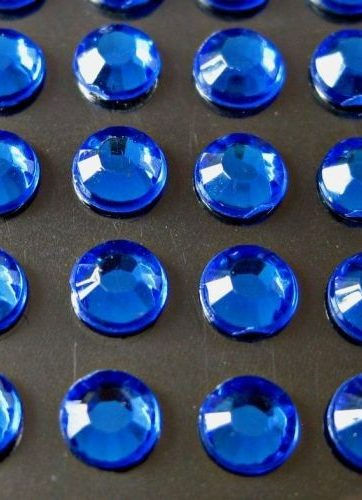 zamówienia hurtowe Cyrkonie okrągłe 5 mm (niebieski) - 100 szt.