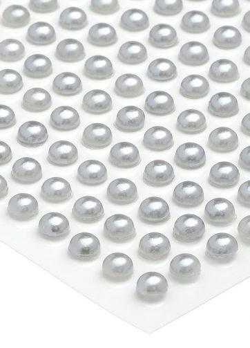 zamówienia hurtowe Półperełki okrągłe 4 mm (srebrny) - 176 szt.