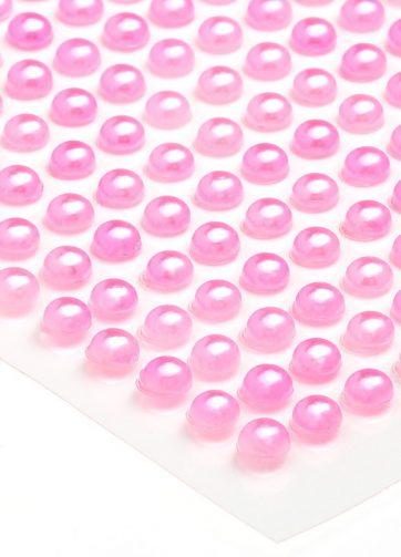 zamówienia hurtowe Półperełki okrągłe 5 mm (różowy) - 100 szt.