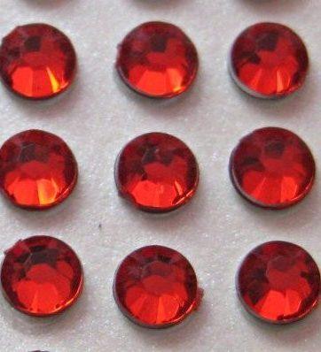 zamówienia hurtowe Cyrkonie okrągłe 5 mm (czerwony) - 100 szt.