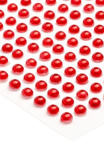 zamówienia hurtowe Półperełki okrągłe 2 mm (czerwony) - 176 szt.