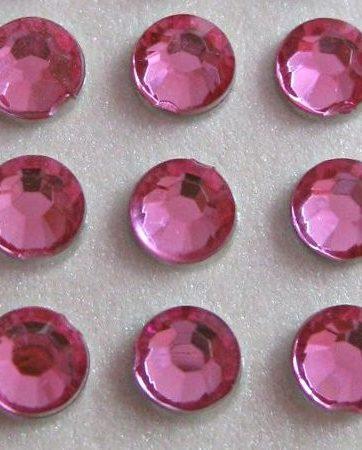 zamówienia hurtowe Cyrkonie okrągłe 5 mm (różowy) - 100 szt.