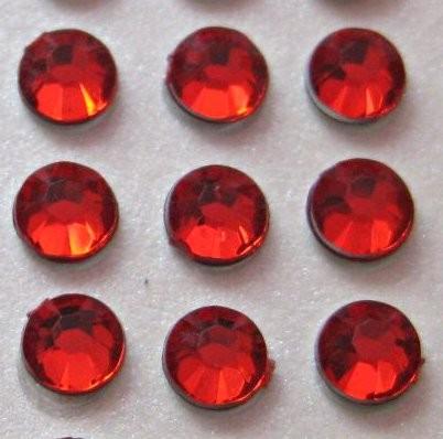 zamówienia hurtowe Cyrkonie okrągłe 3 mm (czerwony) - 176 szt.