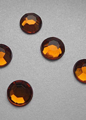 zamówienia hurtowe Cyrkonie okrągłe 2 mm (pomarańczowy) - 176 szt.