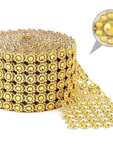 zamówienia hurtowe Taśma dekoracyjna 10 cm x 9m (złota) - 1 szt.
