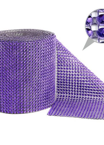zamówienia hurtowe Taśma dekoracyjna 12 cm x 9m (fioletowa ciemna) - 1 szt.