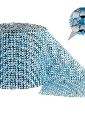 zamówienia hurtowe Taśma dekoracyjna 12 cm x 9m (błękitna) - 1 szt.