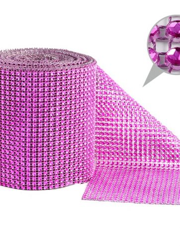 zamówienia hurtowe Taśma dekoracyjna 12 cm x 9m (różowa ciemna) - 1 szt.