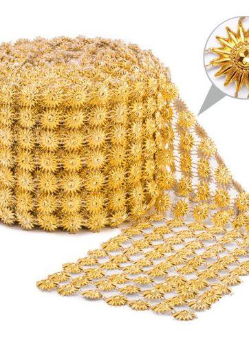 zamówienia hurtowe Taśma dekoracyjna 11 cm x 9m (złota) - 1 szt.