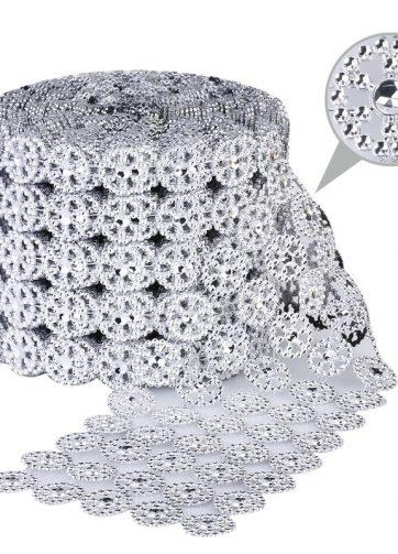 zamówienia hurtowe Taśma dekoracyjna 11 cm x 9m (srebrna) - 1 szt.
