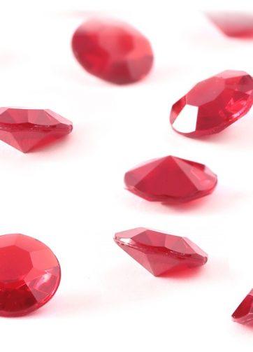 zamówienia hurtowe Diamentowe konfetti 12 mm (czerwone) - 100 szt.