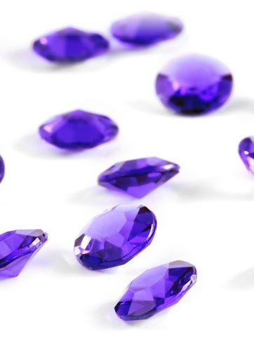 zamówienia hurtowe Diamentowe konfetti 12 mm (fioletowe ciemne) - 100 szt.
