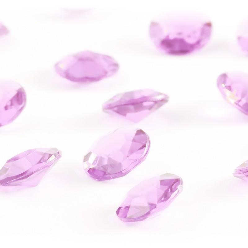 zamówienia hurtowe Diamentowe konfetti 12 mm (różowe jasne) - 100 szt.