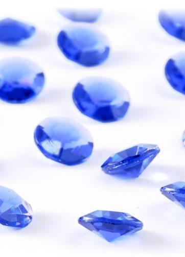 zamówienia hurtowe Diamentowe konfetti 12 mm (niebieskie) - 100 szt.