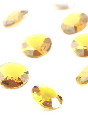 zamówienia hurtowe Diamentowe konfetti 12 mm (złote) - 100 szt.