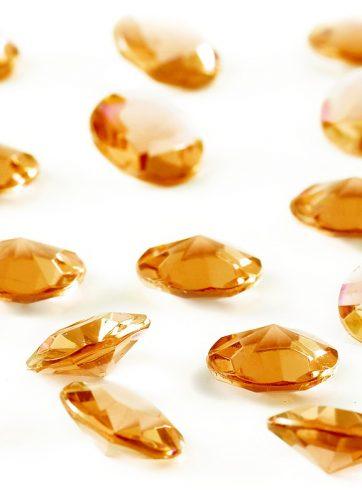 zamówienia hurtowe Diamentowe konfetti 12 mm (bursztynowe) - 100 szt.