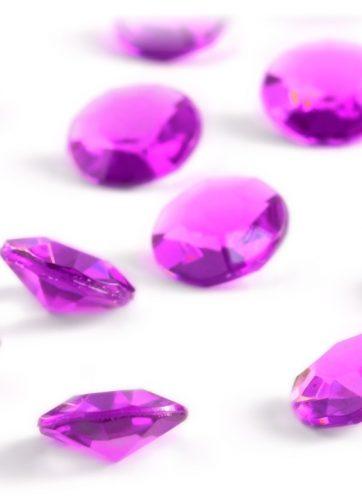zamówienia hurtowe Diamentowe konfetti 12 mm (różowe ciemne) - 100 szt.