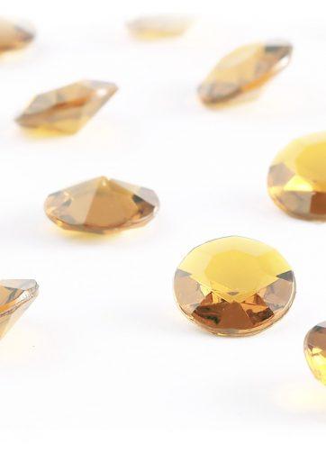 zamówienia hurtowe Diamentowe konfetti 12 mm (cappuccino) - 100 szt.