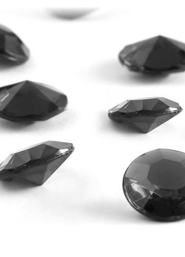 zamówienia hurtowe Diamentowe konfetti 12 mm (czarne) - 100 szt.