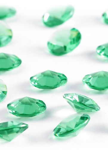 zamówienia hurtowe Diamentowe konfetti 12 mm (zielone) - 100 szt.