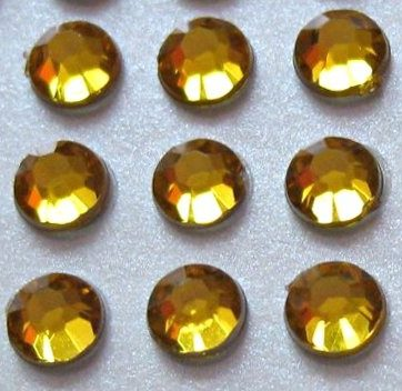 zamówienia hurtowe Cyrkonie okrągłe 3 mm (złoty) - 176 szt.