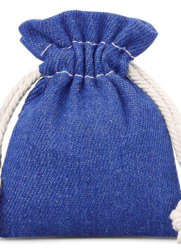 3 szt. Woreczki z jeansu 8 x 10 cm - niebieskie
