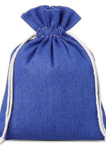 1 szt. Woreczek z jeansu 15 x 20 cm - niebieski