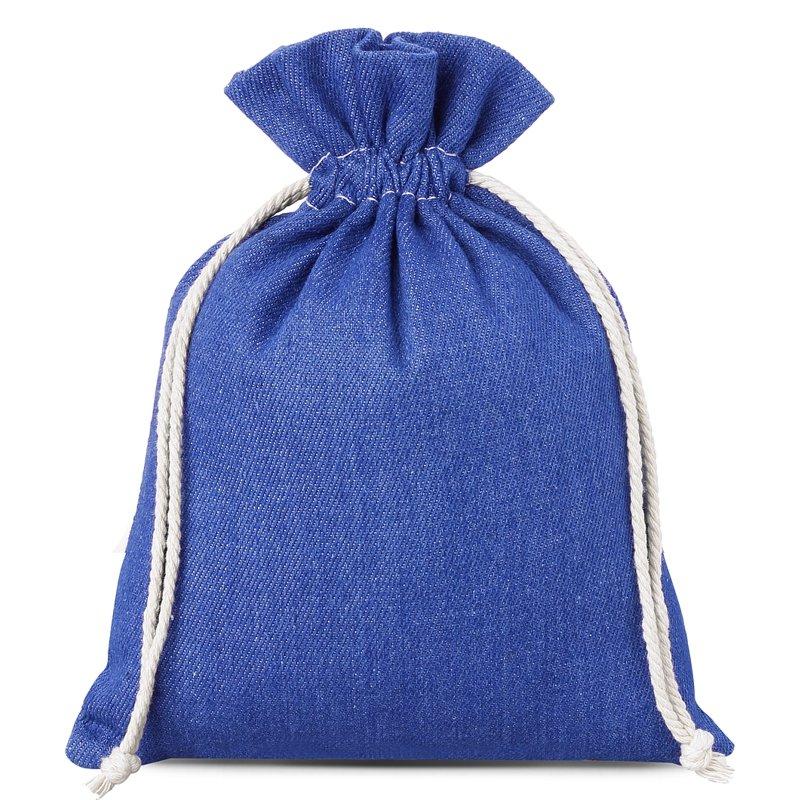 1 szt. Woreczek z jeansu 18 x 24 cm - niebieski