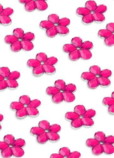 zamówienia hurtowe Cyrkonie kwiatki 8 mm (różowe) - 80 szt.