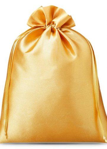 3 szt. Woreczki satynowe 26 x 35 cm - złote