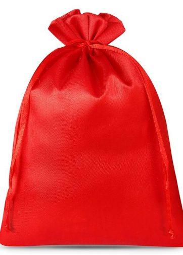 3 szt. Woreczki satynowe 26 x 35 cm - czerwone